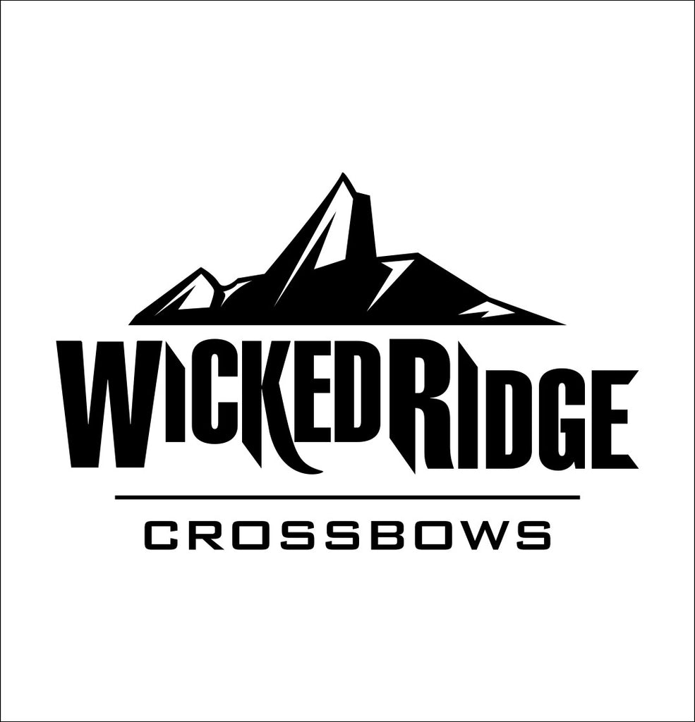 Wicked Ridge Crossbows decal, sticker, hunting fishing decal