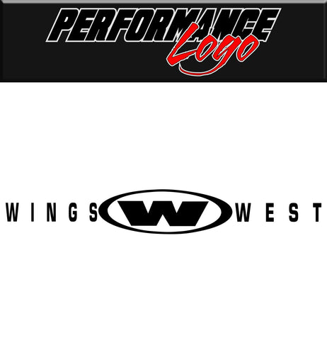 Wings West decal, performance decal, sticker