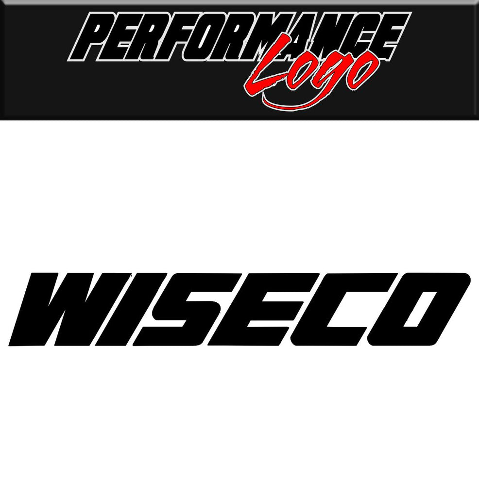 Wiseco decal, performance decal, sticker