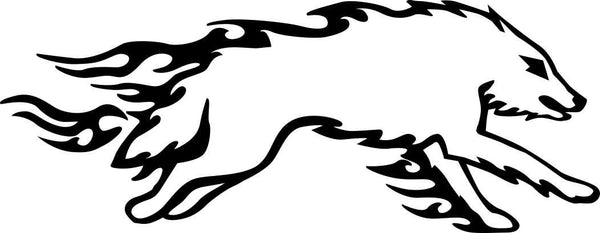 wolf 4 flaming animal decal - North 49 Decals