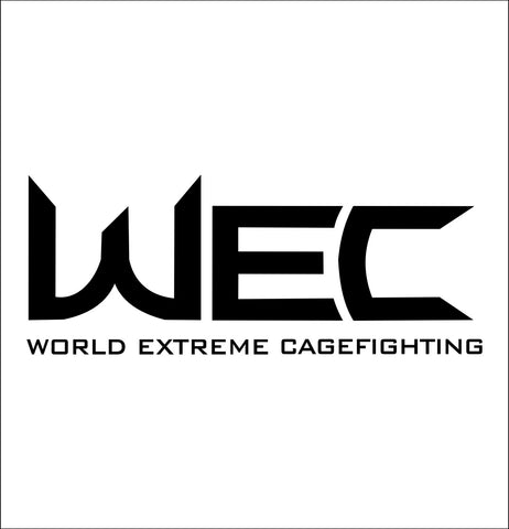 WEC decal, mma boxing decal, car decal sticker