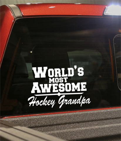 world's most awesome hockey grandpa hockey decal - North 49 Decals