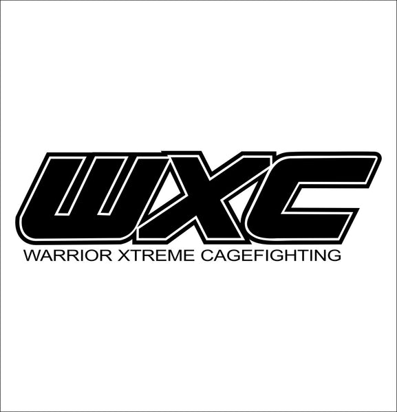 WXC MMA decal, mma boxing decal, car decal sticker