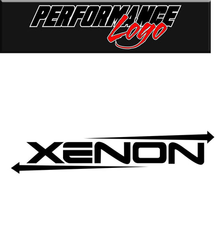 Xenon decal, performance decal, sticker