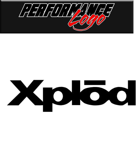 Xplod decal, performance decal, sticker