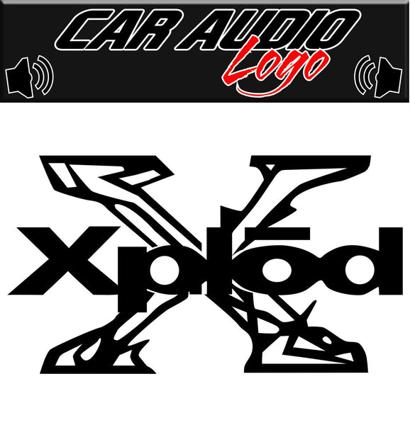 Xplod decal, audio decal, sticker