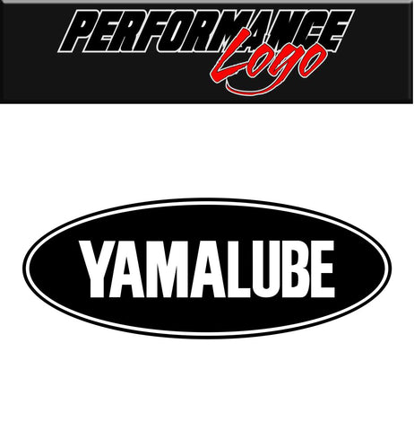 Yamalube decal, performance decal, sticker