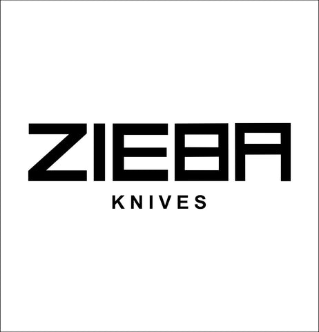 zieba knives decal, car decal sticker