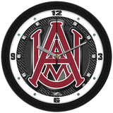 Alabama A&M Bulldogs Carbon Fiber Wall Clock