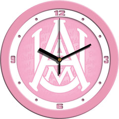 Alabama A&M Bulldogs Pink Wall Clock