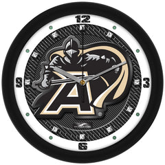 Army Black Knights Carbon Fiber Wall Clock