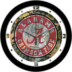 Alabama Crimson Tide Camo Wall Clock