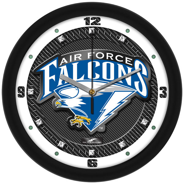 Air Force Falcons Carbon Fiber Wall Clock