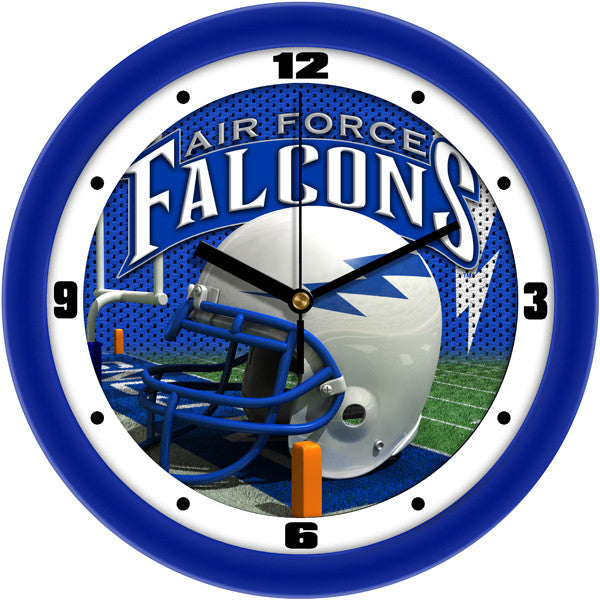 Air Force Falcons Football Helmet Wall Clock