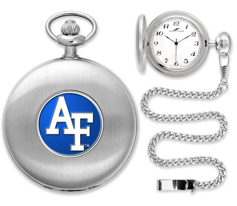 Air Force Falcons Silver Pocket Watch