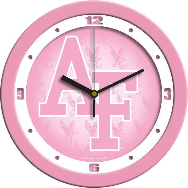 Air Force Falcons Pink Wall Clock