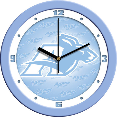 Akron Zips Blue Wall Clock