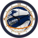 Akron Zips Slam Dunk Wall Clock