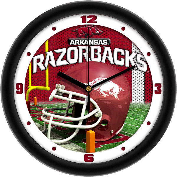 Arkansas Razorbacks Football Helmet Wall Clock