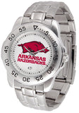 Arkansas Razorbacks Steel Sports Watch