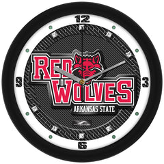 Arkansas State Red Wolves Carbon Fiber Wall Clock
