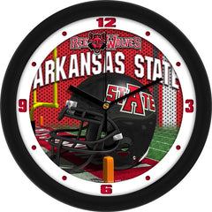 Arkansas State Red Wolves Football Helmet Wall Clock