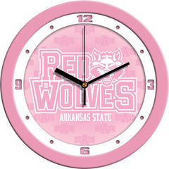 Arkansas State Red Wolves Pink Wall Clock
