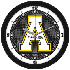 Appalachian State Mountaineers Carbon Fiber Wall Clock