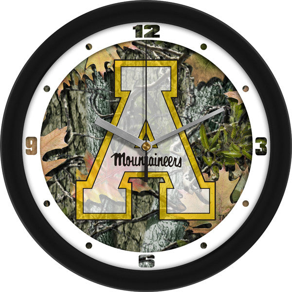 Appalachian State Mountaineers Camo Wall Clock