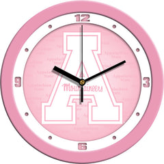 Appalachian State Mountaineers Pink Wall Clock