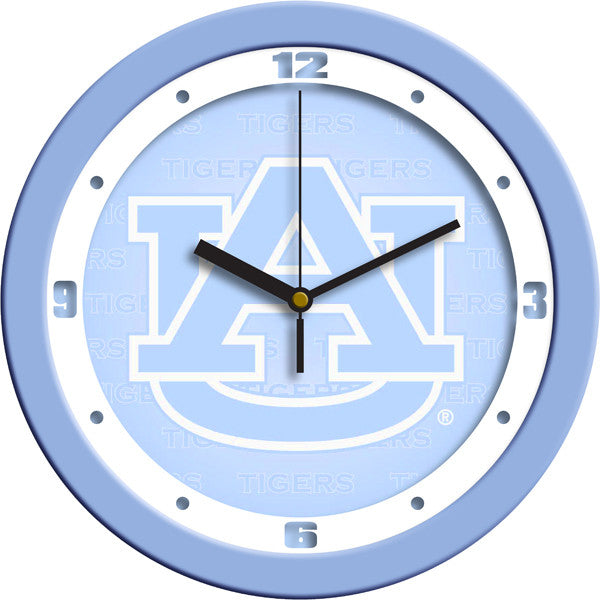 Auburn Tigers Blue Wall Clock