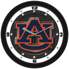 Auburn Tigers Carbon Fiber Wall Clock