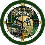 Baylor Bears Football Helmet Wall Clock