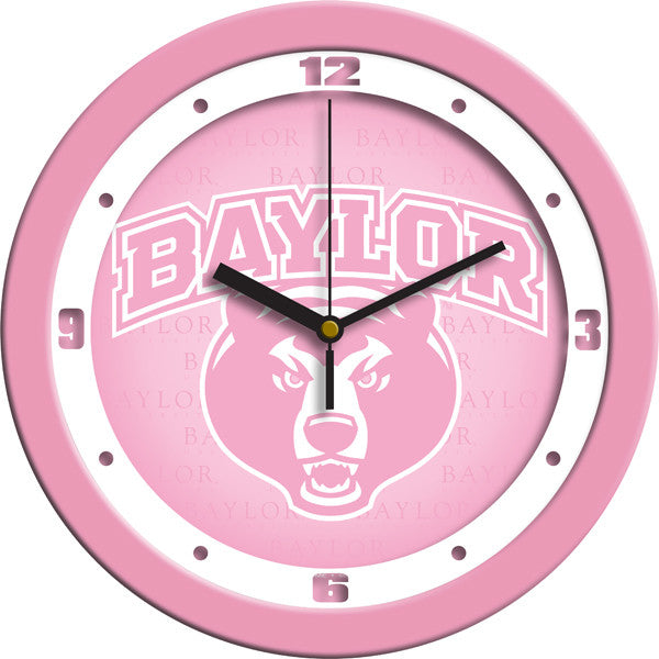 Baylor Bears Pink Wall Clock