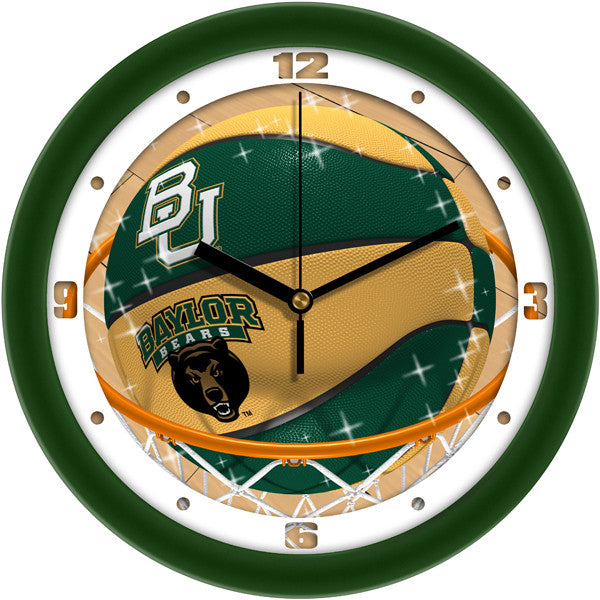 Baylor Bears Slam Dunk Wall Clock