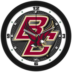 Boston College Eagles Carbon Fiber Wall Clock