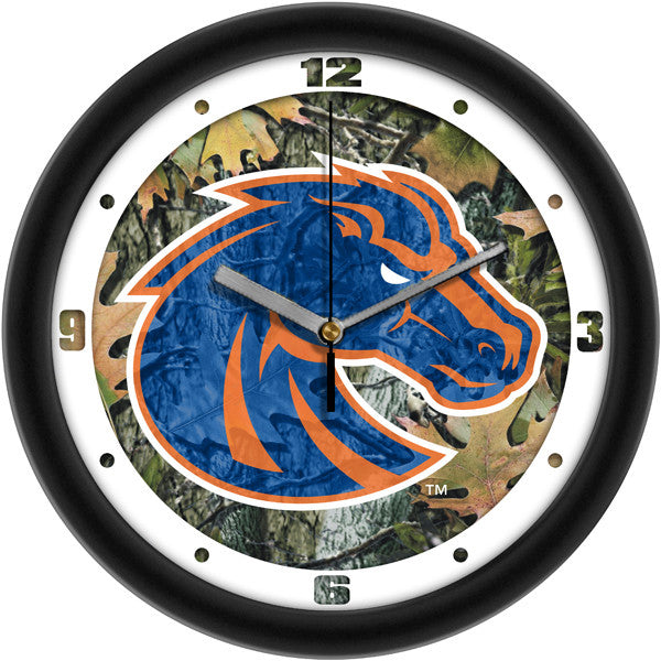 Boise State Broncos Camo Wall Clock