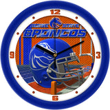 Boise State Broncos Football Helmet Wall Clock