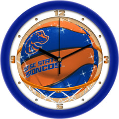 Boise State Broncos Slam Dunk Wall Clock