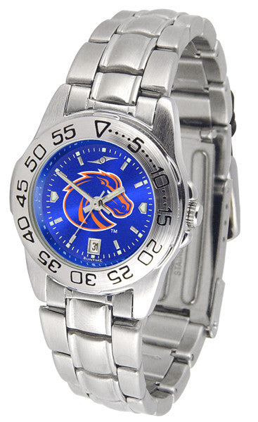 Boise State Broncos Womens Sport Steel Anochrome Watch