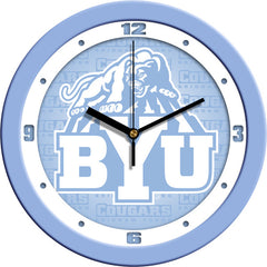 BYU Cougars Blue Wall Clock