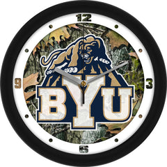 BYU Cougars Camo Wall Clock