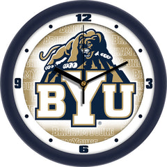 BYU Cougars Dimension Wall Clock
