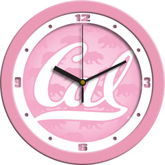 California Golden Bears Pink Wall Clock