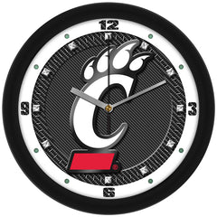 Cincinnati Bearcats Carbon Fiber Wall Clock