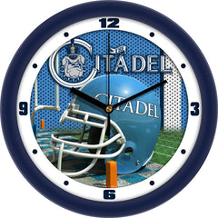 Citadel Bulldogs Football Helmet Wall Clock