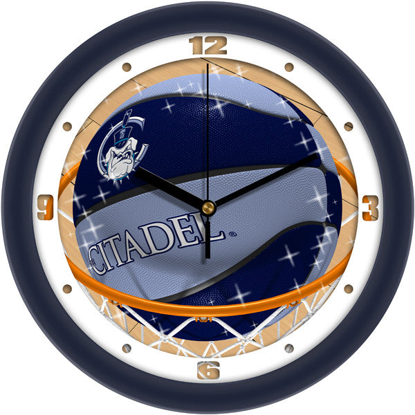 Citadel Bulldogs Slam Dunk Wall Clock
