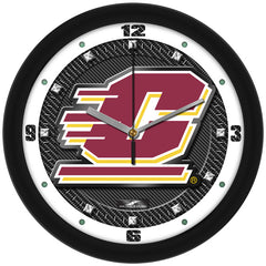Central Michigan Chippewas Carbon Fiber Wall Clock