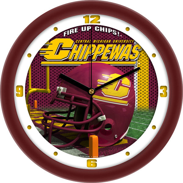 Central Michigan Chippewas Football Helmet Wall Clock
