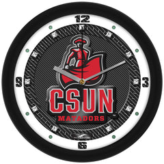 Cal State Northridge Matadors Carbon Fiber Wall Clock